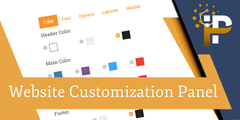 Website Customization Panel